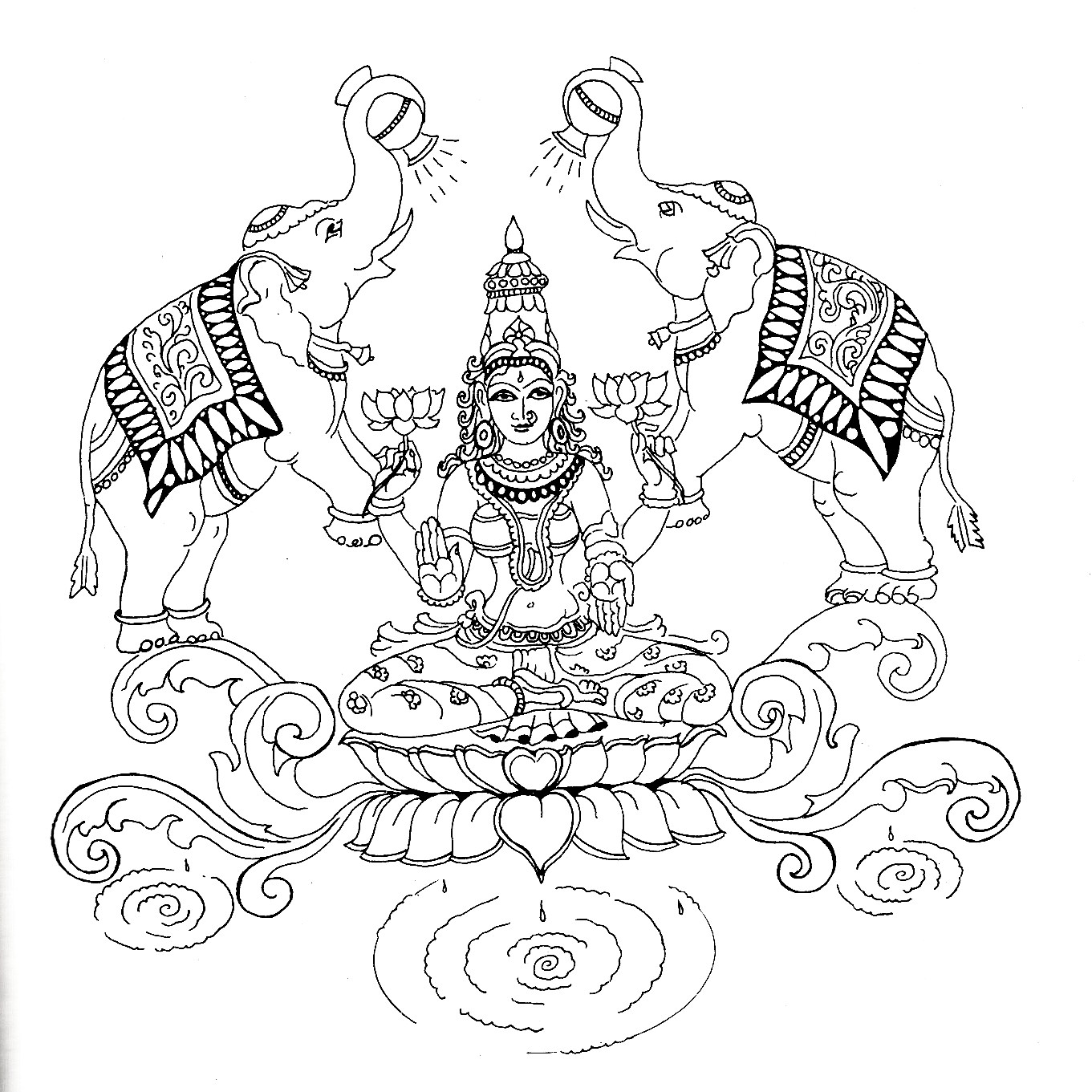 hindu gods printable coloring pages - photo#22