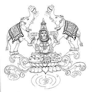 Lakshmi, Hindu goddess of abundance, love and success