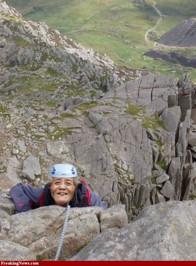 Mountain-Climbing-old lady