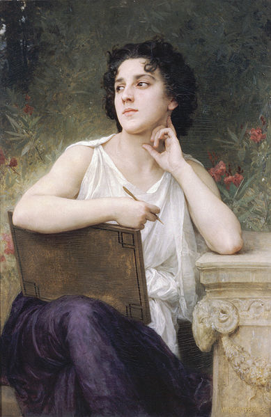 William Adolphe Bouguereau (1825-1905) Inspiration(1898)