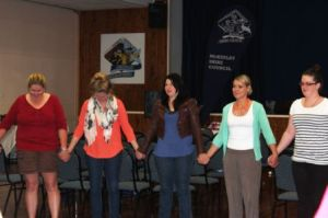 brave bold woman circle