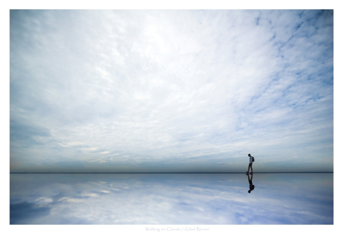 Person Walking on Clouds by Gilad