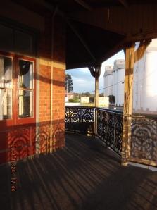 On the verandah of my hotel