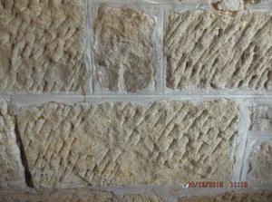 Hand-hewn sandstone