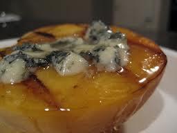 peach with blue cheese