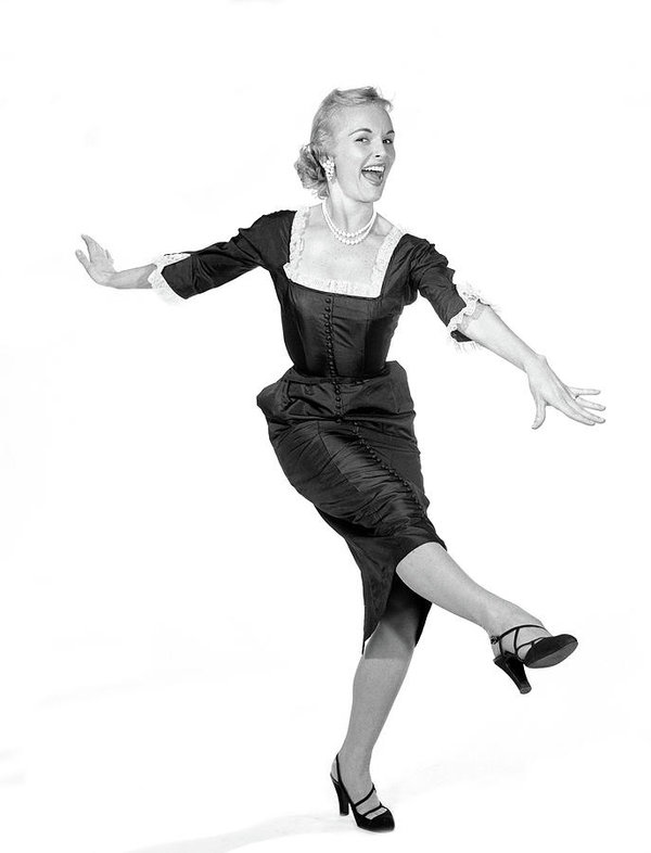 1950s-laughing-happy-excited-woman-vintage