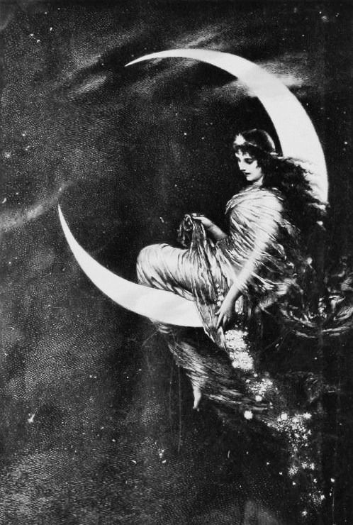 woman sprinkling inspiration from the moon