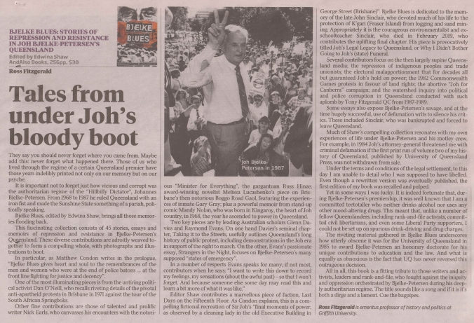 Bjelke Blues review, Fitzgerald, Weekend Aust 9-11-19 (lo res)