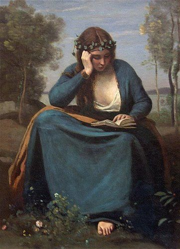 The Reader Crowned with Flowers, or Virgil's Muse, 1845 Jean-Baptiste-Camille Corot