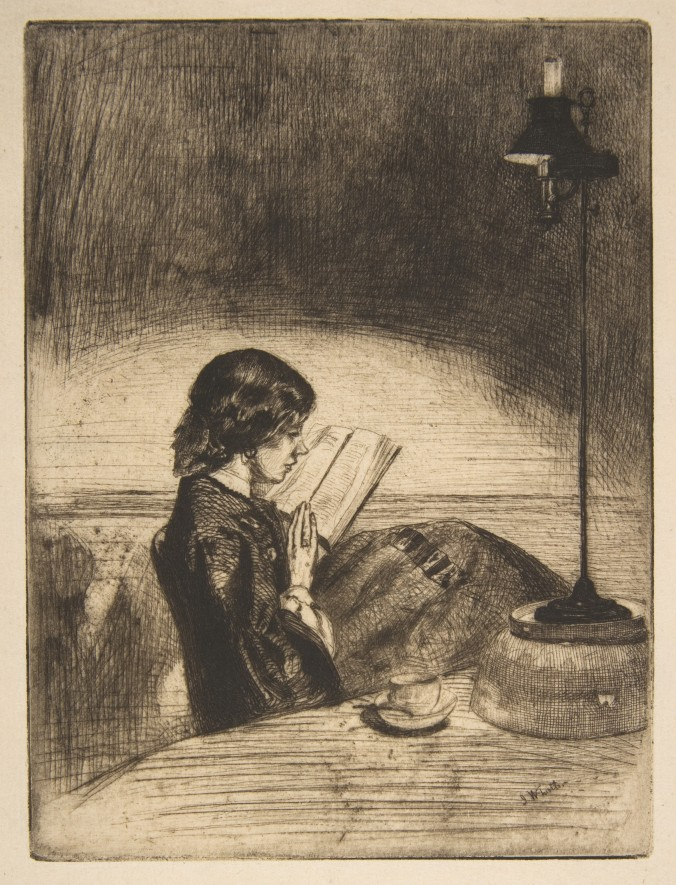 Reading by Lamplight by James Whistler