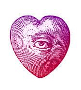 heart with eye