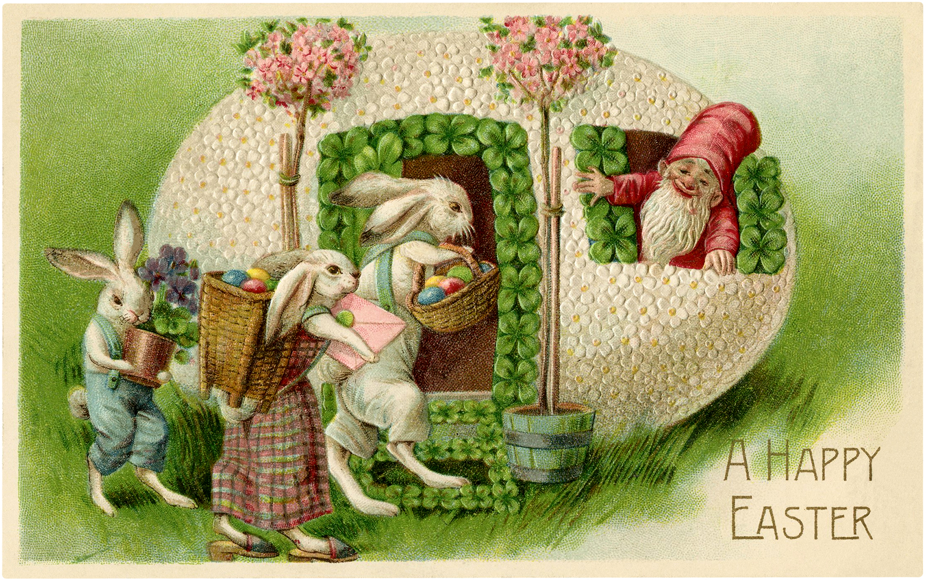 Vintage-Easter-Bunnies-Gnome-GraphicsFairy